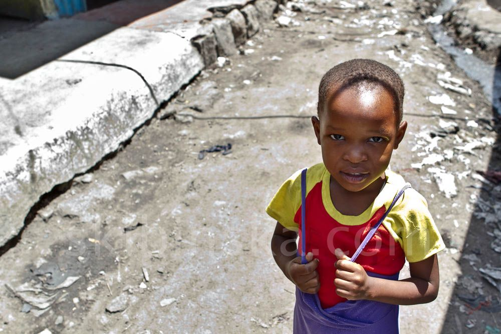 Tribal East Africa: Children of slums of Nairobi