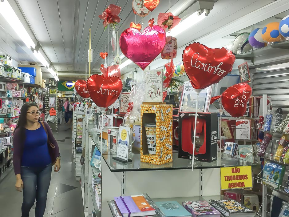 Rio Shop Decorations On Valentine's Day